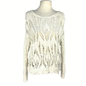 American Eagle Outfitters L Open Weave Sweater
